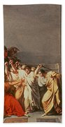 Death Of Julius Caesar Beach Towel by Vincenzo Camuccini