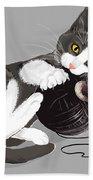 Death Star Kitty Beach Towel by Olga Shvartsur