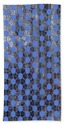 Decadent Urban Blue Patterned Abstract Design Beach Towel