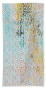 Decadent Urban Light Colored Patterned Abstract Design Beach Towel