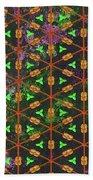 Decadent Urban Orange Green Patterned Abstract Design Beach Towel