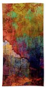 Decadent Urban Red Wall Grunge Abstract Beach Towel