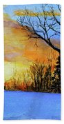 December Sunset Beach Towel