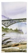 Deception Pass Bridge Beach Towel