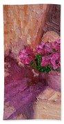Deck Flowers #2 Beach Towel