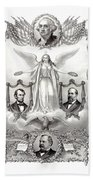Declaration Of Independence 1884 Poster Restored Beach Towel