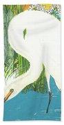 Deco Egret Beach Towel