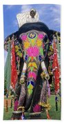 Decorated Indian Elephant Beach Towel