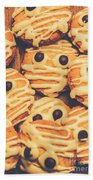 Decorated Shortbread Mummy Cookies Beach Towel