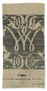 Decorative Design In National Colors, Carel Adolph Lion Cachet, 1874 - 1945 Beach Towel