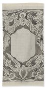 Decorative Design With Angels, Carel Adolph Lion Cachet, 1874 - 1945 Beach Sheet