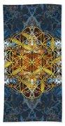 Decorative Gemstone Sacred Geometry Flower Of Life   Beach Towel
