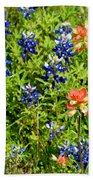 Decorative Texas Bluebonnets Meadow Digital Photo G33117 Beach Towel