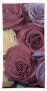 Decorative Wallart Brilliant Roses Photo C41217 Beach Towel by Mas Art Studio