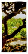 Deep Cuts Gazebo Between The Tree Branches Beach Towel
