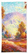 Radiant Peace, Colors Of Fall Beach Towel
