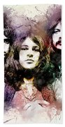 Deep Purple.rock Stars Beach Towel