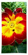 Deep Red Bright Yellow Beach Towel