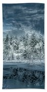 Deep Winter Beach Towel