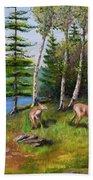 Deer Meadow Beach Towel