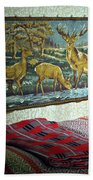 Deer Room Beach Towel