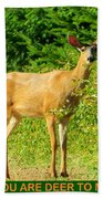 Deer To Me Beach Towel