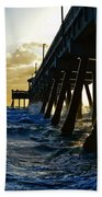 Deerfield Beach Pier At Sunrise Beach Towel
