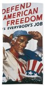 Defend American Freedom Beach Towel