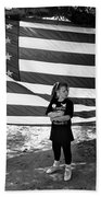 Defiant Girl Desert Storm Troops Welcome Home Celebration Ft. Lowell Tucson Arizona 1991 Beach Towel