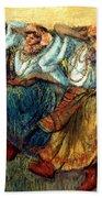 Degas: Dancing Girls, C1895 Beach Sheet
