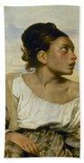 Delacroix: Orphan, 1824 Beach Sheet