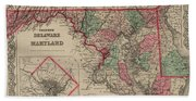 Delaware And Maryland Beach Towel