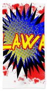 Delaware Comic Exclamation Beach Towel
