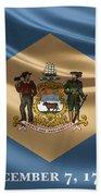 Delaware State Flag Beach Towel