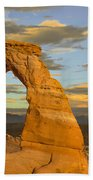 Delicate Arch At Sunset Beach Towel