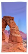 Delicate Arch Sunset Beach Towel