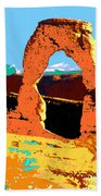 Delicate Arch Utah - Pop Art Beach Towel