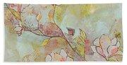 Delicate Magnolias Beach Sheet