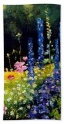 Delphiniums Beach Towel