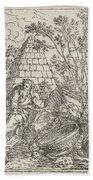Democritus Mediterend, Jonas Umbach, 1634 - 1693 Beach Towel