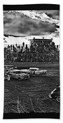 Demolition Derby Rain Storm Clouds #1 Tucson Arizona 1968 Beach Towel