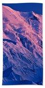 Denali Alpenglow Beach Towel