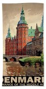 Denmark, Castle, Romance Of The Middle Ages Poster Beach Towel