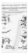 Dentists Chair Patent 1892 Beach Towel