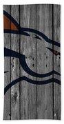 Denver Broncos Wood Fence Beach Towel