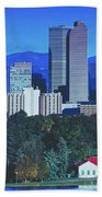Denver Skyline Beach Towel