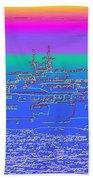 Departing Ferry Beach Towel by Tim Allen