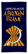 A Broken Frame Logo With Name Beach Towel