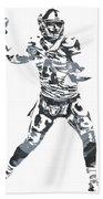 Derek Carr Oakland Raiders Pixel Art 11 Beach Towel
