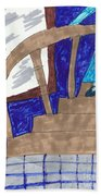 Descending The Stairs Beach Towel
